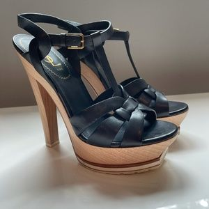 👠15 % Off 👠YSL Tribute Black Leather